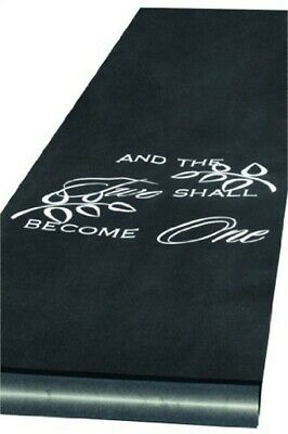 Black Two Become One Aisle Runner