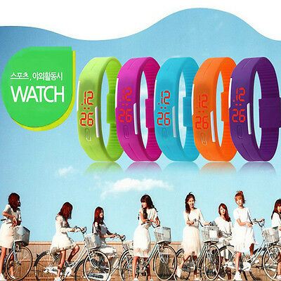 lot-High Quality Unisex Silicone LED Sports Bracelet Touch Digital Wrist Watch