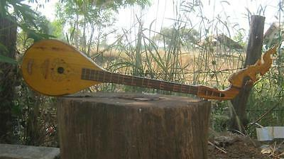 Isarn Phin Pear shape 3Strings Guitar Jackfruit wood Traditional Thai Musical