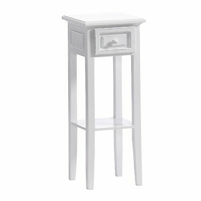 DESIGN TELEPHONE TABLE COUNTRY SIDE STYLE   white washed   with drawer, vintage