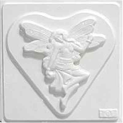 Fairy on Heart Plaster Mould/Mold/Moulds/Molds 2103