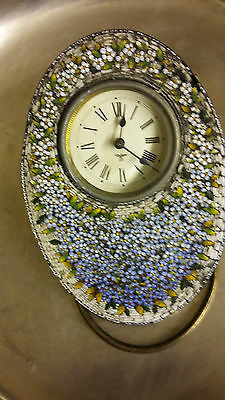Antique Fredrich Mauthe (Fms) Oval Clock With Mosaic Surface. Rb