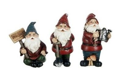 "2.25"" to 3"" My Fairy Gardens Mini Figures Set of 3 - Gardening Gnomes Figurines"