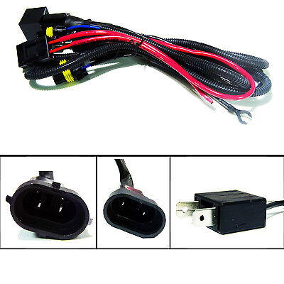 High Performance HID Xenon Wire Relay Harness 9006 9005 H11 H9 H7 H4 H13 9012
