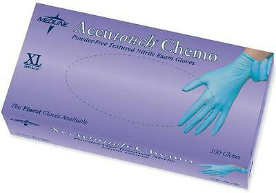 10 pack or box of 100 in S, L or XL Medline Accutouch Chemo Nitrile Exam Gloves