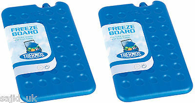 2x Thermos Cool Bag Ice Pack Travel Freeze Board 200g (TWIN PACK) - FREE P&P