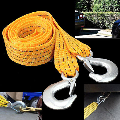 3M Car Vehicle Road Tow Rope Cable Towing Strap Emergency Heavy Duty 3 Tons New
