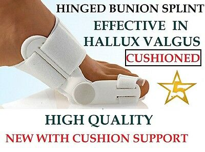 QUALITY Hinged Bunion Protector Splint Pad Hallux Valgus Foot Toe Pain Relief