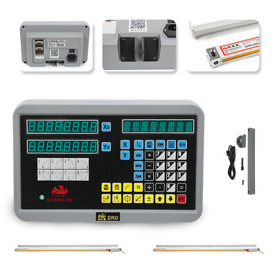 Digital Display Readout 2 Axis Dro Kit For Mill Lathe Machine With Linear Scale