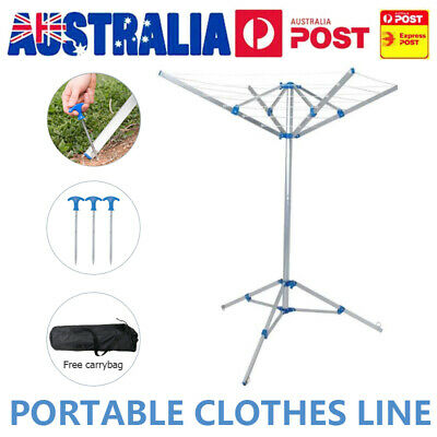 Au Ship Portable Camping Clothesline Clothes Line Hanger Clothing