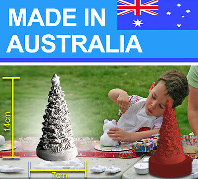 Xmas Tree latex Mould/Mold plaster/candle/soap 1024