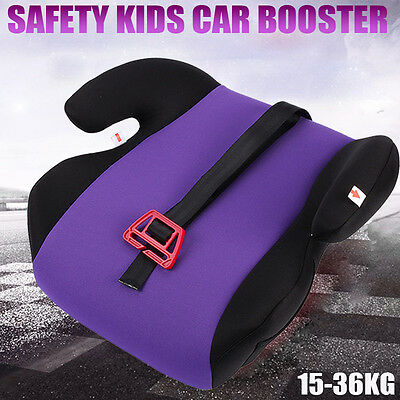 Safe Sturdy Baby Child Kid Children Car Booster Seat Purple Fit 3 To 12 Years