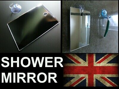Shower Shaving Mirror, Strong Shatter Proof, Anti-Fog,Travel,camping, FREE Hook!
