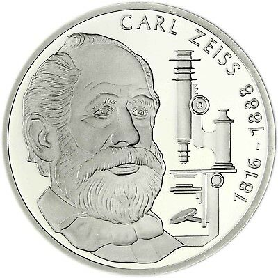 Germany 10 DM Silver 1988 brilliant uncirculated Carl Zeiss in Capsule