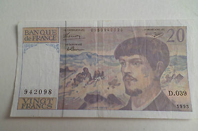 Billet De Vingt Francs France - Claude Debussy - 1993 D.039