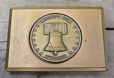 Liberty Bell Bicentennial Patriotic Historical 1970's Vintage Belt Buckle