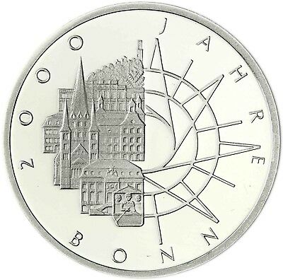 Germany 10 DM Silver 1989 brilliant uncirculated 200 years Bonn in Capsule