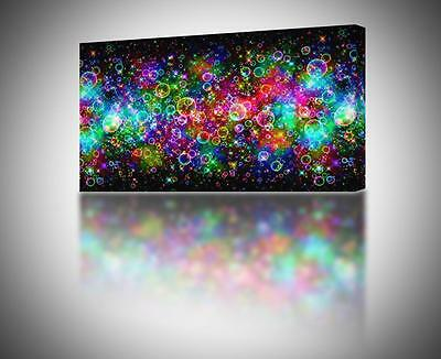 4 Sizes - Colorful Abstract bubbles CANVAS PRINT Home Wall Art Decor Giclee