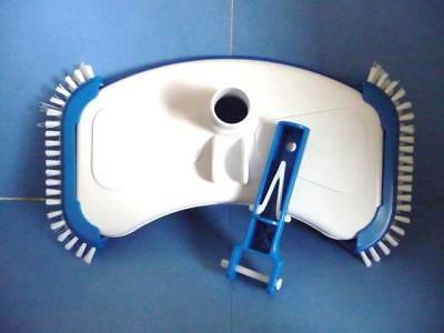 Swimming Pool Cleaning - Liner Side Brush Vacuum Head