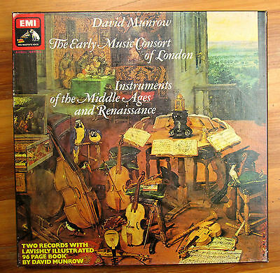 SLS 988 Instruments Of The Middle Ages David Munrow 2xLP EMI Box Set NM/EX