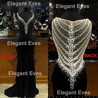 Black Red Homecoming Long Evening Formal Ball Gown Prom Bridesmaid Dress Wedding