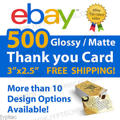 500 eBay Seller Professional Thank You Business Cards FREE SHIPPING