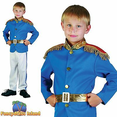 KIDS PRINCE CHARMING STORYBOOK FAIRYTALE - Age 3-10 - Boys Fancy Dress Costume
