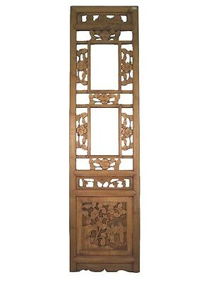 A Chinese Beautiful Antique Elm Wood Square Window Shutter Late Qing Period 50''