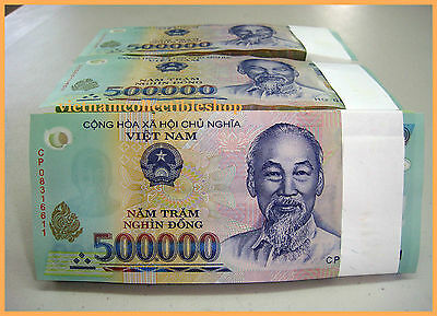 1 x 500,000 Vietnam Currency Banknotes,  Notes Dong Money, UNCIRCULATED