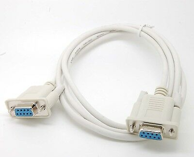 Serial RS232 Null Modem Cable Female to Female DB9 5ft 1.5m Cross connection c76