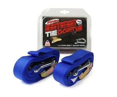 "RHK NEW Mx Heavyweight Blue Ultra Wide 1.5"" Straps Motocross Dirt Bike Tie Downs"
