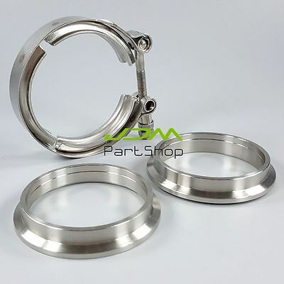 """2.5"""" Inch 64mm VBand V-Band Clamp Exhaust Downpipe Female Male SS304 Flanges"""