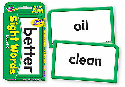 Sight Words C - Pocket Flash Cards - Sturdy Educational 2 Sided Cards