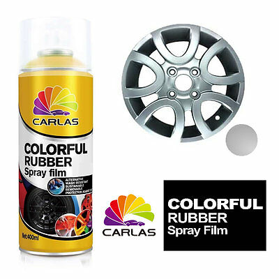 Carlas Removable Rubber Spray Paint Film Coating - SILVER - Alloy Wheels Panels
