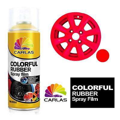 Carlas Removable Rubber Spray Paint Film Coating - RED - Alloy Wheels Panels