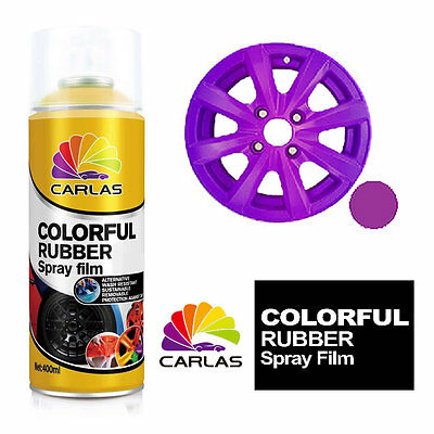 Carlas Removable Rubber Spray Paint Film Coating - PURPLE - Alloy Wheels Panels
