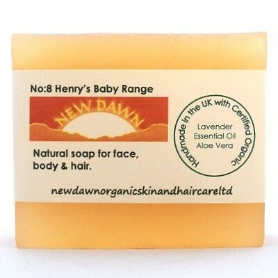 NEWBORN BABY SOAP & SHAMPOO BAR - New Dawn Organic Lavender Skin and Hair Care
