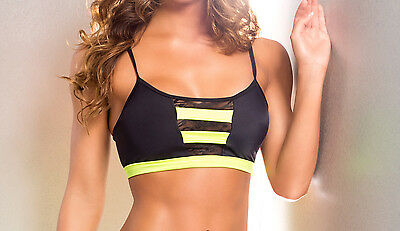 Sexy Body Zone Apparel Dancewear & Workout Top.  Made in the USA. VV017.
