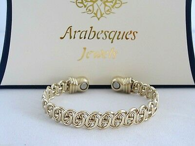 ARABESQUES TOP QUALITY Ladies Lace copper magnetic therapy bangle/bracelet. Gold