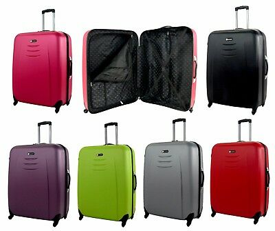 90 litre Large L Hard Shell 4 Wheel Spinner ABS Luggage Trolley Case Suitcase