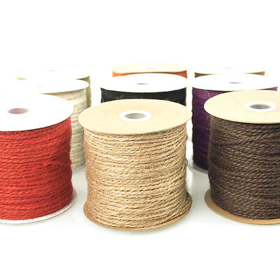 Jute Twine Cord Ribbon Packaging, 1/16-Inch, 100 Yards
