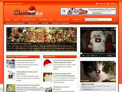 Christmas Season / Traditions and Gift Tips Niche WP Blog Website For Sale!