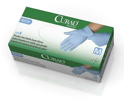 box of 150 in XS extra small M medium, L large Medline CURAD Nitrile Exam Gloves