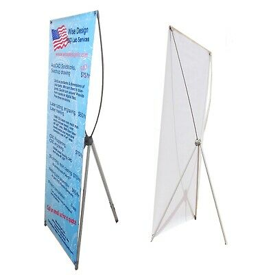 "X Banner Stand for Poster Sizes up to 24""X63"" or 32""X71"" buy 2 pcs at $14 each"