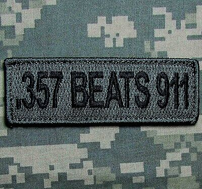 .357 Beats 911 Nra 2Nd Amendment Usa Army Acu Dark Tactical Hook Morale Patch