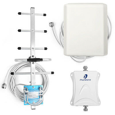 3G 850MHz 70dB Mobile Signal Repeater Cell Phone Booster Amplifier+Yagi Antenna