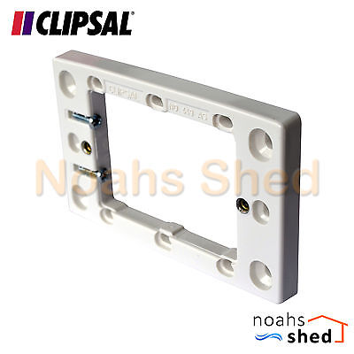 CLIPSAL Wall Plate Power Point Switch Shallow Mounting Flange Block 10mm 449AS