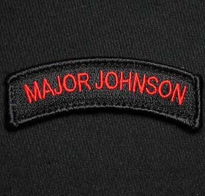 Major Johnson Tab Tactical Usa Army Military Hook Red Ops Morale Badge Patch