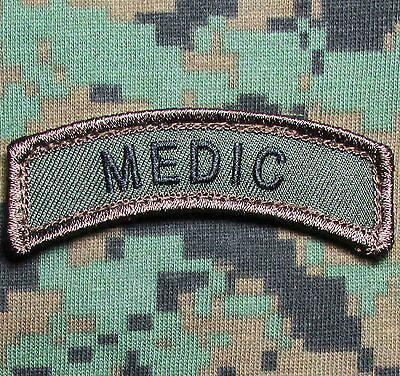 Medic Tab Tactical Usa Army Military Hook Forest Morale Badge Patch