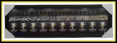 RICHMOND AFL The Premiership Years Montage Print Framed Royce Hart Bartlett NEW